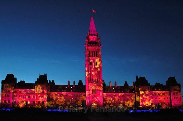 Parliament Light Show 1 - Summer