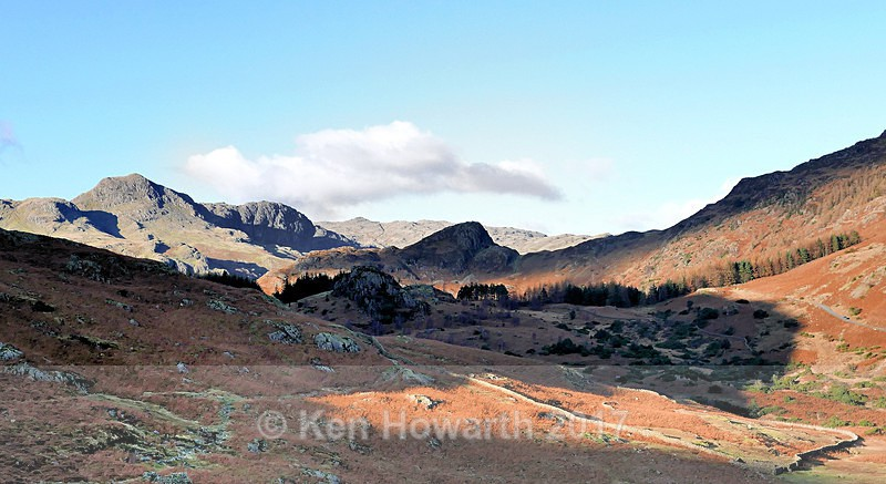 The Langdales from near Castle Howe - Lakeland Landscapes
