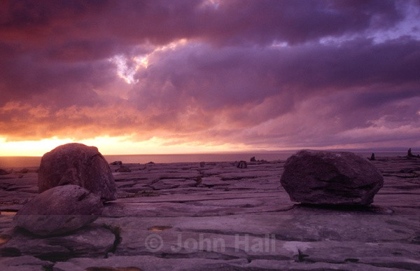 stormy sunset, the burren,co. clare,ireland