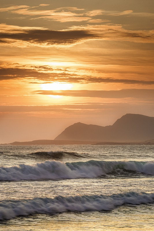 Surfing The Waves On Achill Island