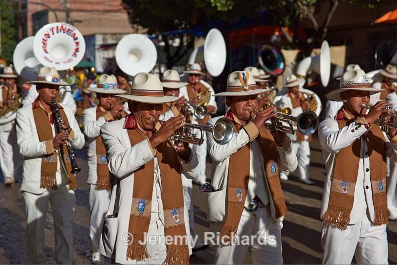 Band of a Llamerada Dance Group - Oruro Carnival 2017