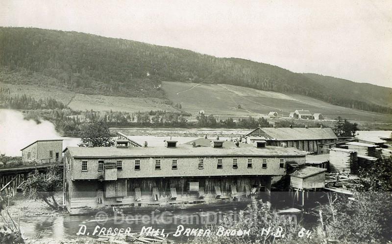 Donald Fraser SawMill Baker Brook Madawaska New Brunswick Canada - Historic New Brunswick