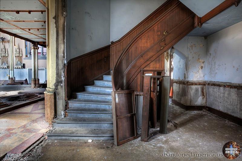 St. Boniface Church (Philadelphia, PA)   Stairs to Balcony - St. Boniface Church