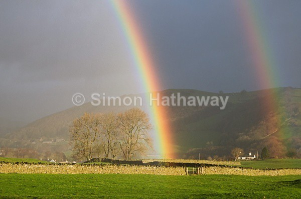 Crake-Valley-Double-Rainbow - English Lake District