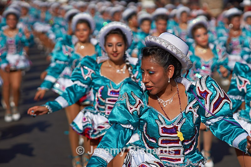 Female members of a Caporales dance group - Carnaval Andino Con La Fuerza Del Sol - Arica