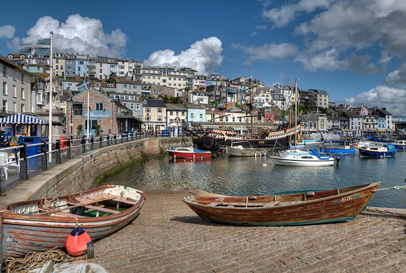 TQ89 - Brixham Harbour and the Golden Hind - Greetings Cards Brixham and Kingswear