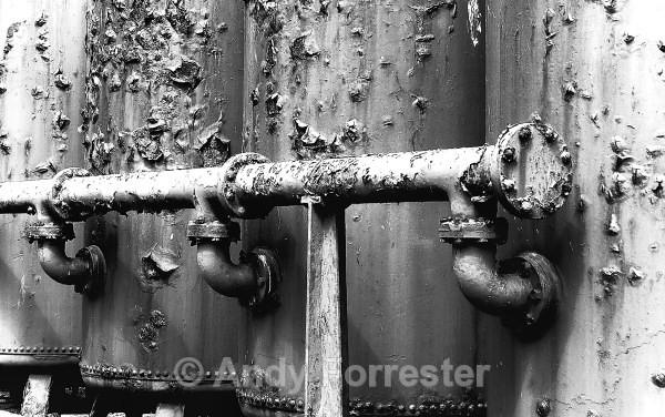 Rusted Tanks - Black and White