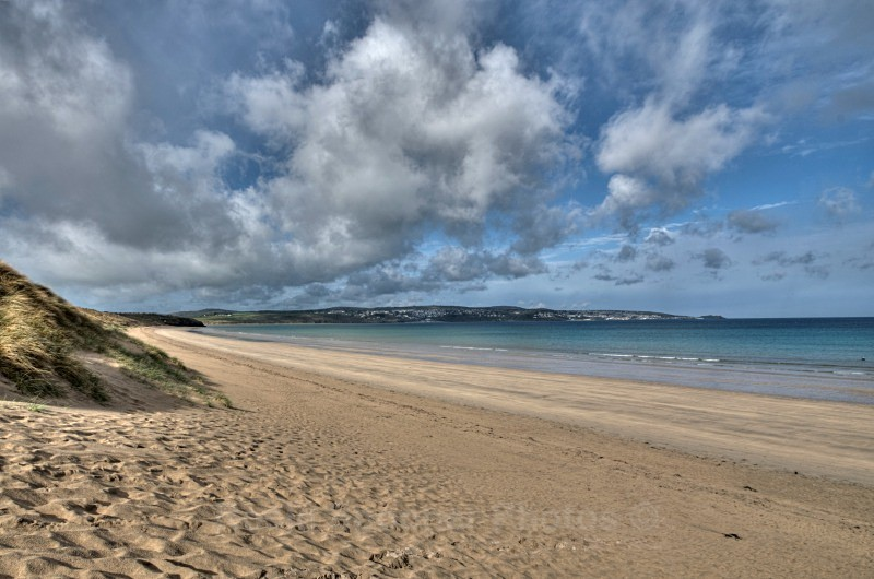 Hayle Beach looking towards St Ives - St Ives and Hayle