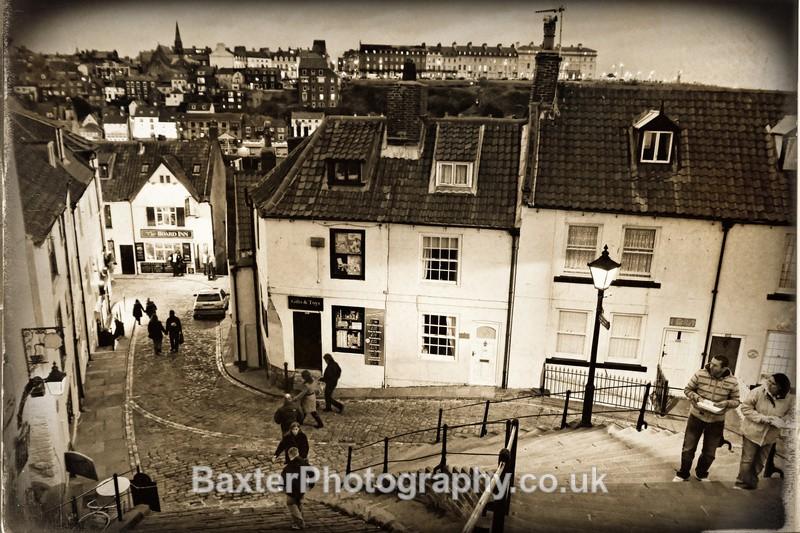 Whitby Old Town (Monochrome) - Whitby