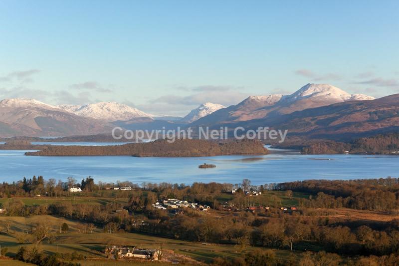 Loch Lomond from Duncryne Hill, Dumbartonshire2 - Landscape format