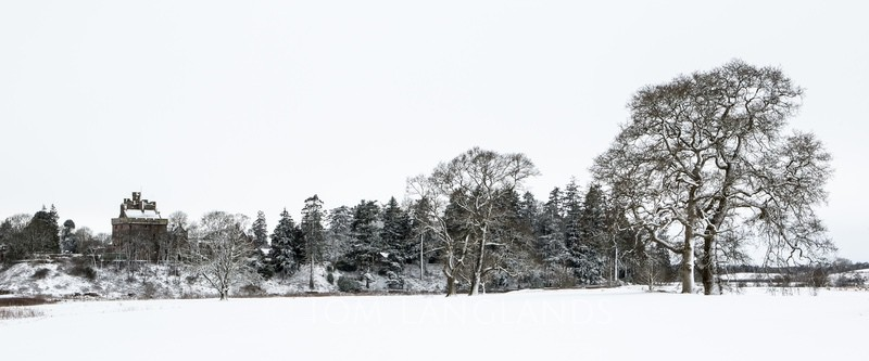 Hoddom Castle in the Snow - Landscapes