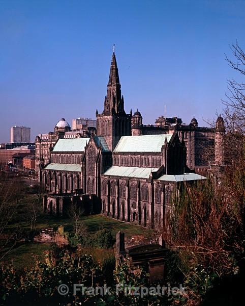 Glasgow Cathedral from Glasgow Necropolis. - Glasgow