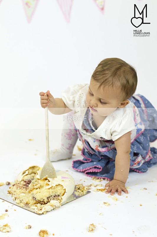 Isabelle Cake Smash 11th June 2016 Millie Loves Louis Photography  51 - Cake Smash Celebrations