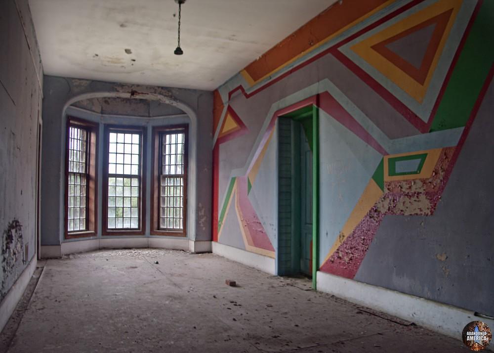 Painted hallway, Taunton State Hospital