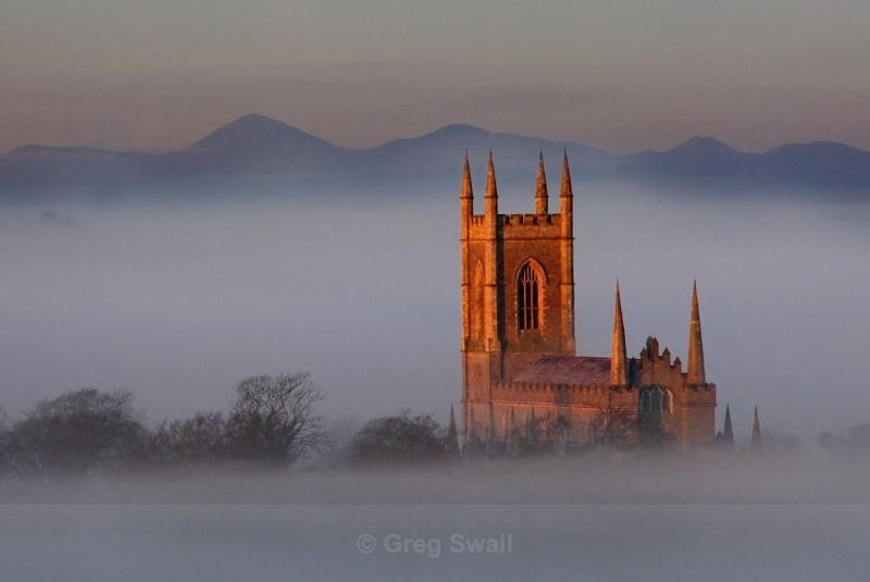 First Light on Down Cathedral - Downpatrick