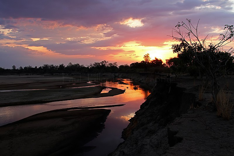 Luangwa River sunset, Zambia - Landscapes and places