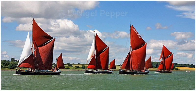 Racing Four - The Pin Mill Barge Match