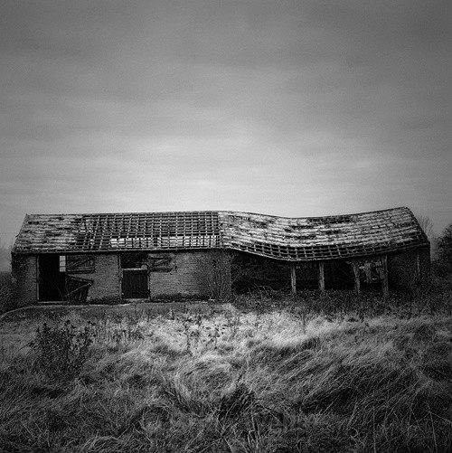 Disused Barn at Morton On The Hill - The Black & White Gallery
