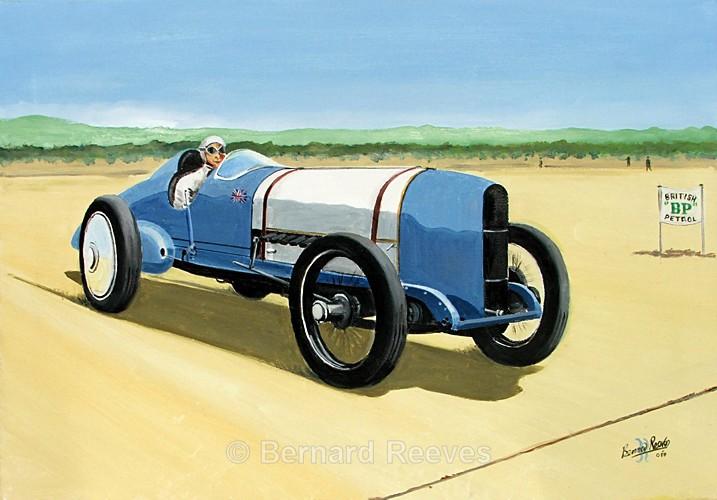 Sunbeam Bluebird 350hp Pendine Sands 1924 - Malcolm Campbell and Bluebird