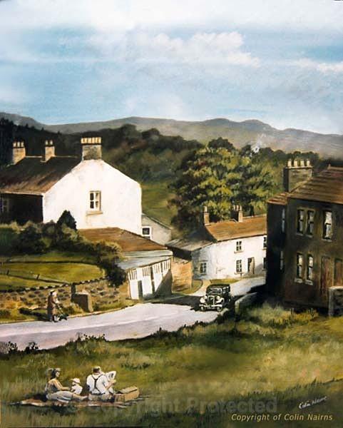 'Reeth Village, Yorkshire' - Landscapes