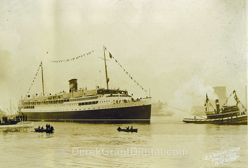 SS Saint John Departs Saint John Harbour May 3rd 1932 - Historic New Brunswick
