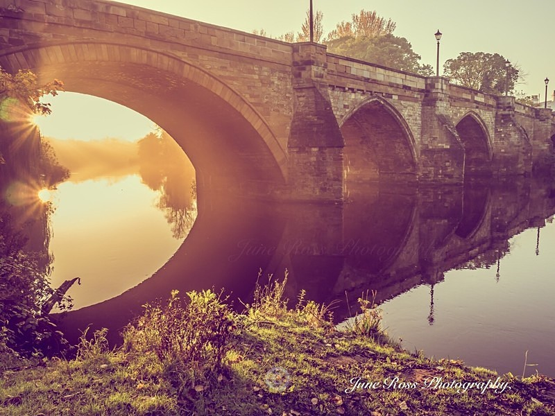Yarm Bridge Sunburst - YARM-on-Tees, Cleveland