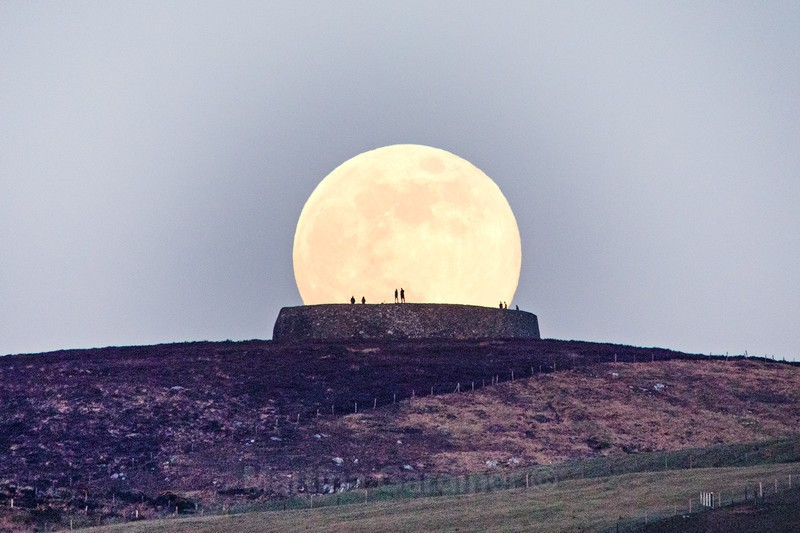 Watching the Moonrise - At Grianan - Ireland by Day