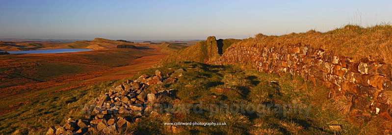 Hadrians Wall on a spring evening.    ref had wall 2 - Northumberland