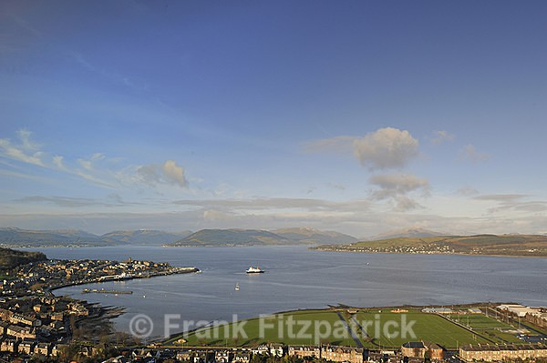 Ferry arriving at Cardwell Bay, Gourock - Scottish scenics