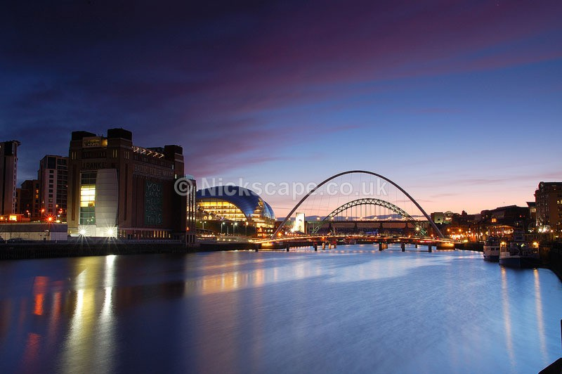 Quayside Newcastle | Photography of the Newcastle Quayside at Night