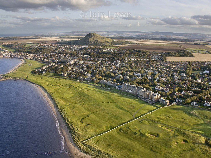 Aerial 15th, 16th & 17th - North Berwick Golf Links