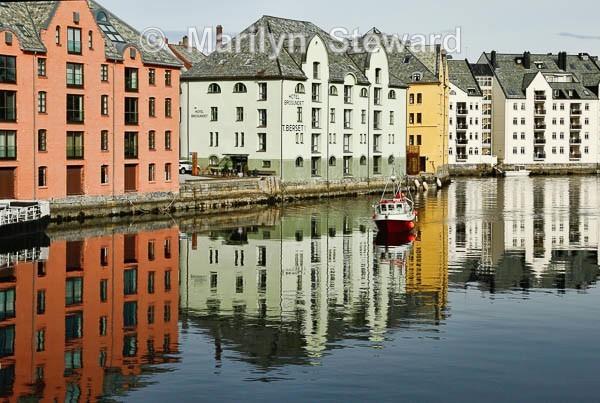 Ålesund riverside houses - Norway Coast