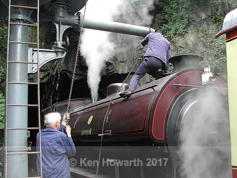 Thirsty Work - filling the tanks with water, Haverthwaite - People and Places