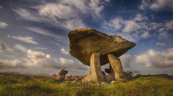 Wild Sky Over Kilclooney Dolmen, Co. Donegal, Ireland.
