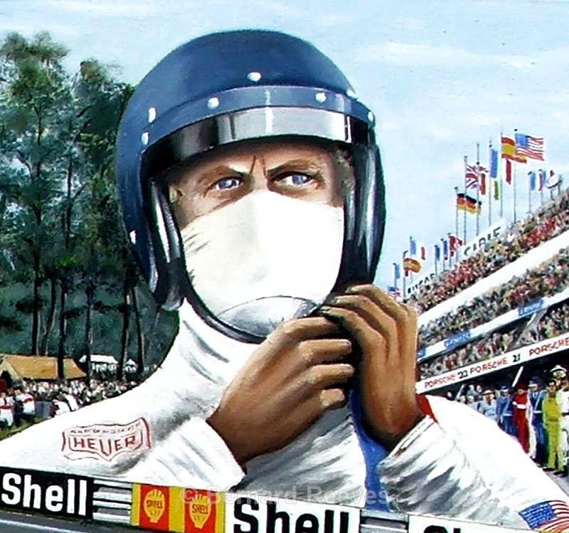 Tribute to Steve McQueen in Helmet - Steve McQueen