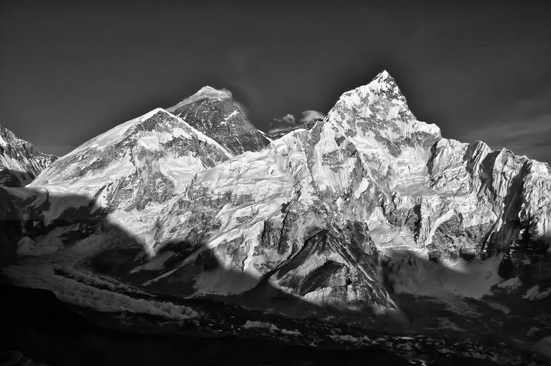 Sun setting over Mt. Everest - Landscape & Seascape