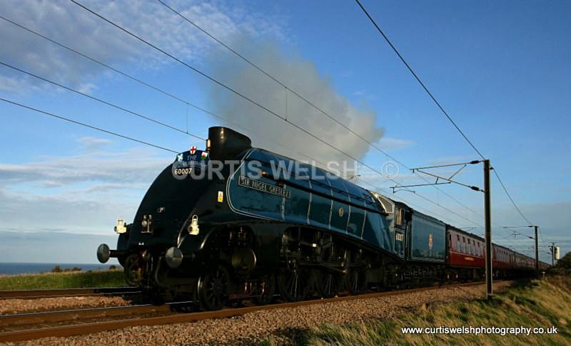 60007 Sir Nigel Gresley at Berwick 16 April 2011 - Preserved Railways