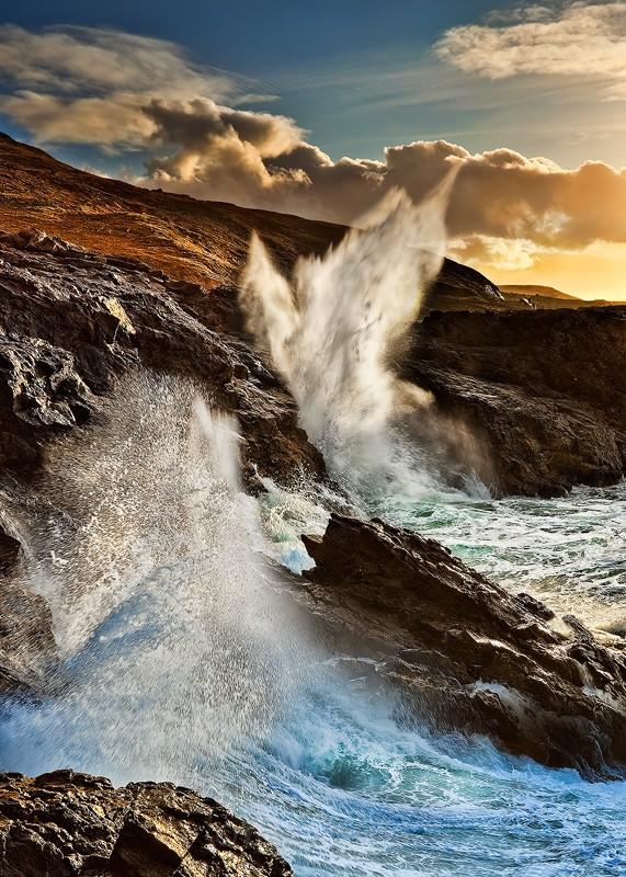 Blow Hole  - Donegal Ireland - Wild Atlantic Way