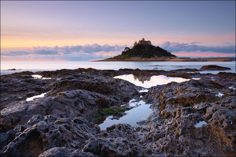 St Michaels Mount Reflected - Photographs of Cornwall