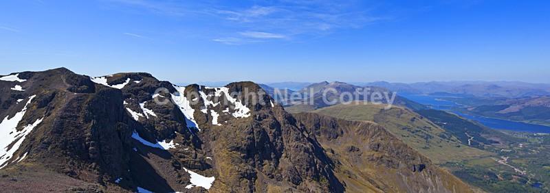 Bidean Nam Bian & Western Clen Coe, Highland - Panoramic format