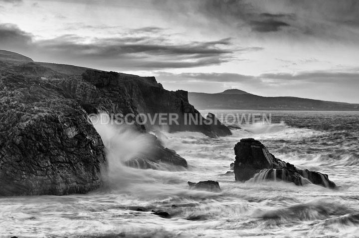 Dunaff Bay - Inishowen peninsula- B&W
