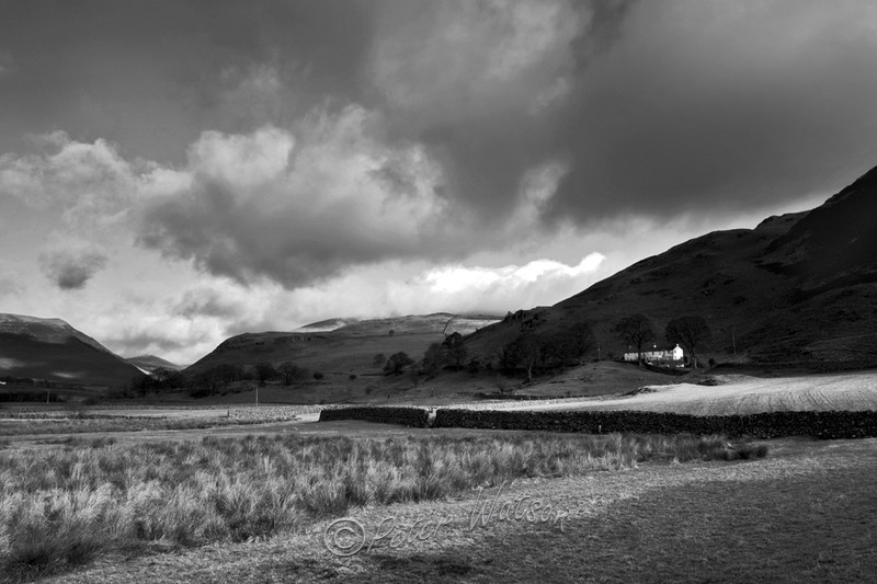 St John's Vale Cumbria England - Monochrome