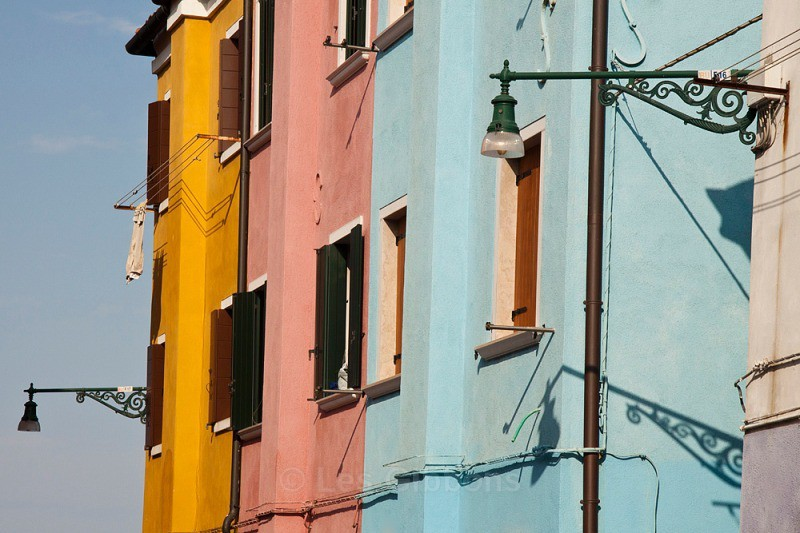 Burano - washing lines and lamps - Venice