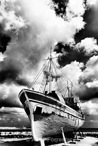 The Boat - Black and White