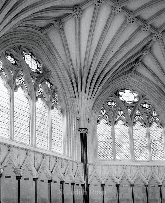 Wells Cathedral Chapter House Wall - Images from England