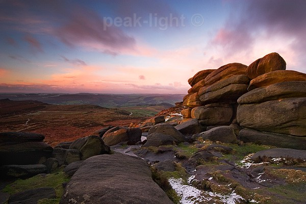 The Shelter on Higger Tor - Peak District