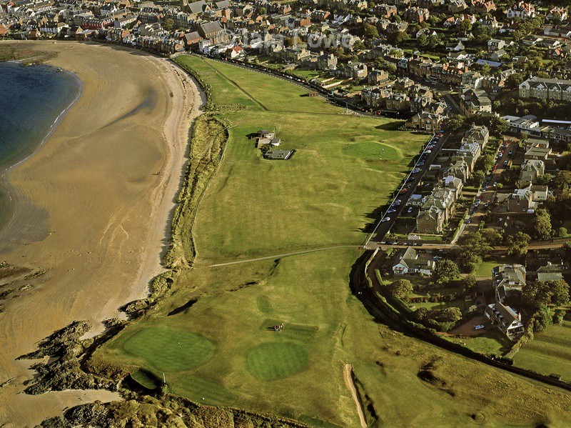 Aerial 1st, 17th & 18th - North Berwick Golf Links