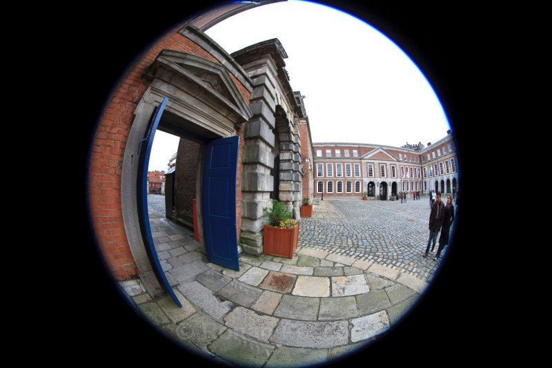 State Apartments - Dublin - through a fisheye lens