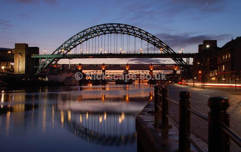 Newcastle Tyne Bridge at Night | Architecuture Photography by Nick Cockman