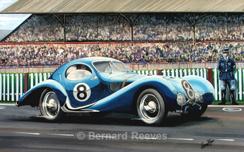 Lago Talbot at Le Mans - Classic cars